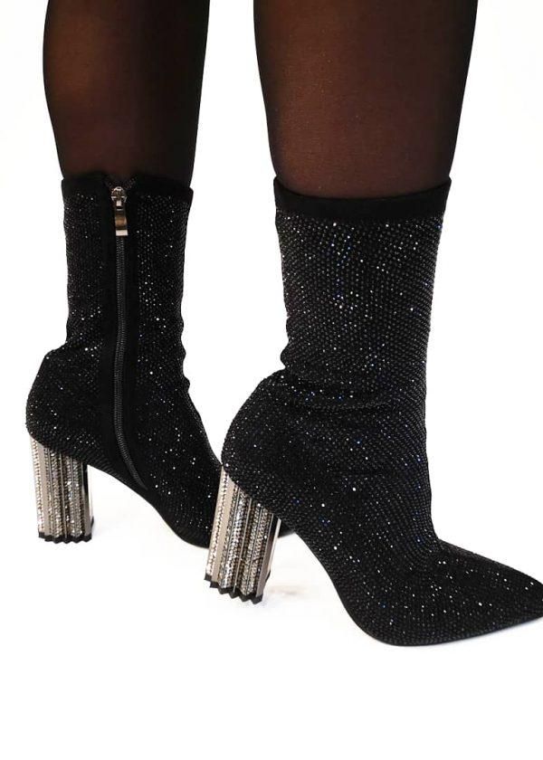 Bota calcetín brillante