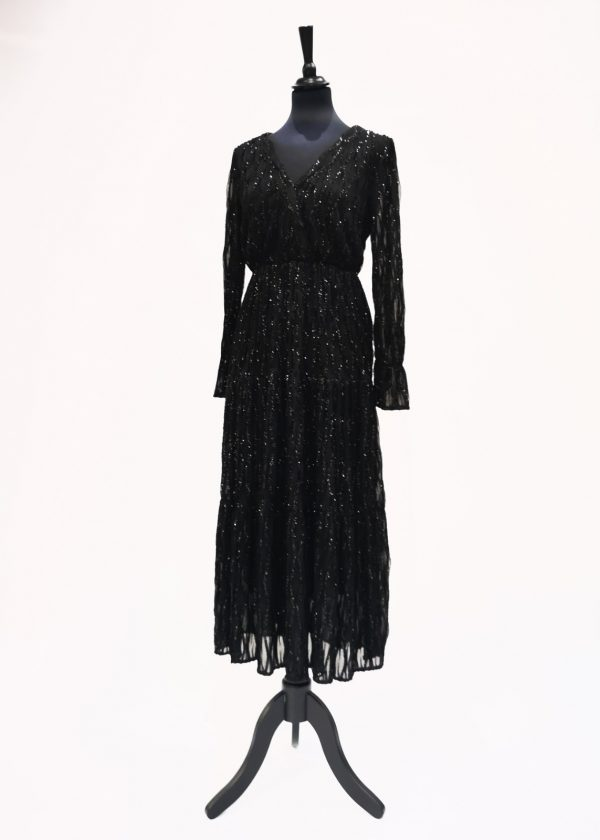 Vestido largo con brillo