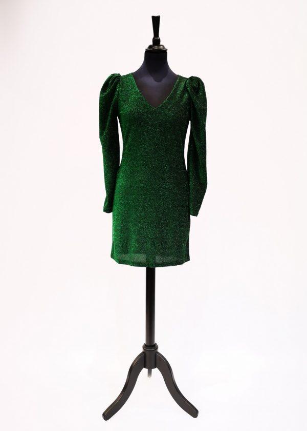 Vestido verde de brillo