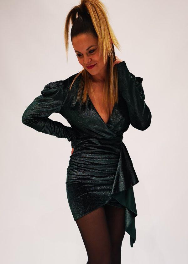 Vestido corto de terciopelo