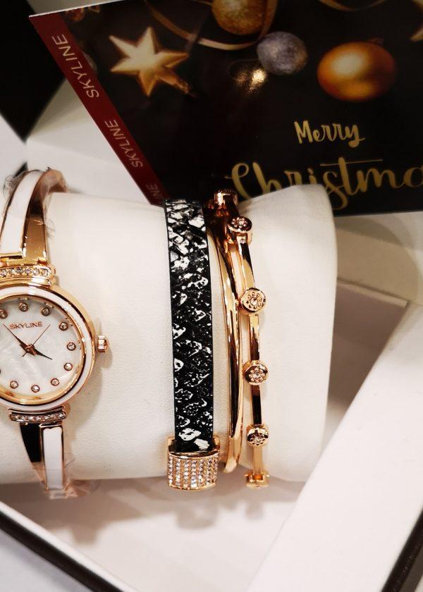 Conjunto de reloj y pulseras