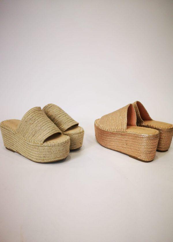 Sandalia de esparto