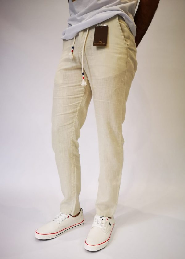 Pantalón chino de lino