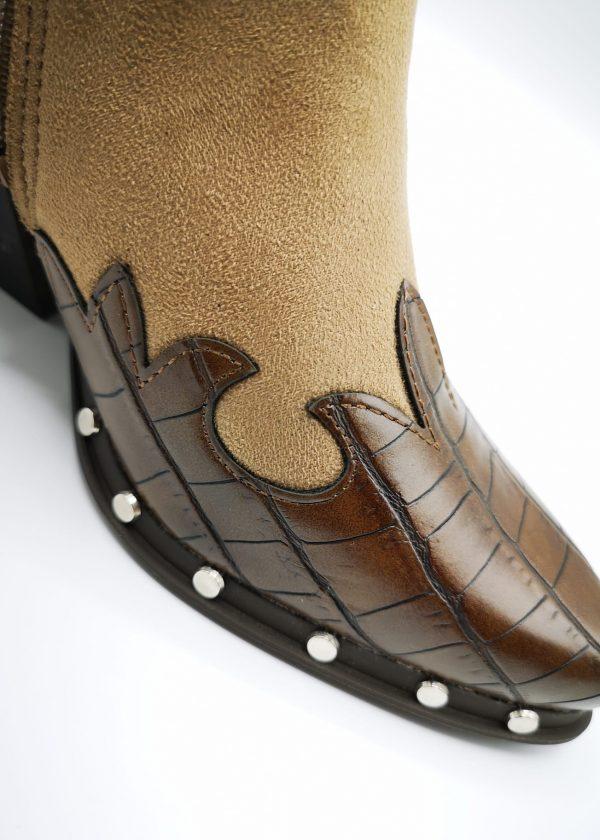 Botín tacón cowboy