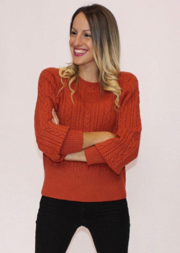 Jersey de ochos c/cuello redondo