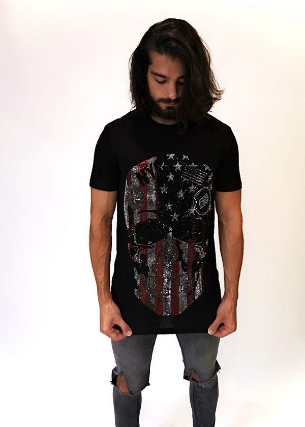 Camiseta de calavera americana