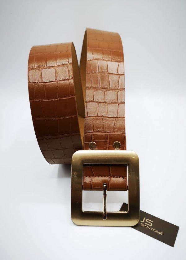 Cinturón de hebilla cuadrada