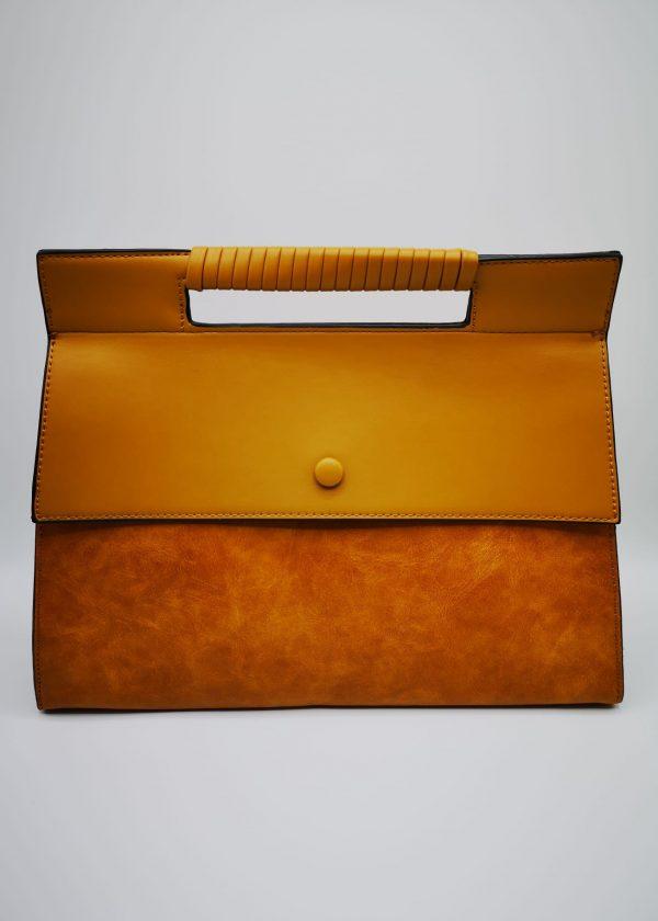Bolso de mano con asa recta