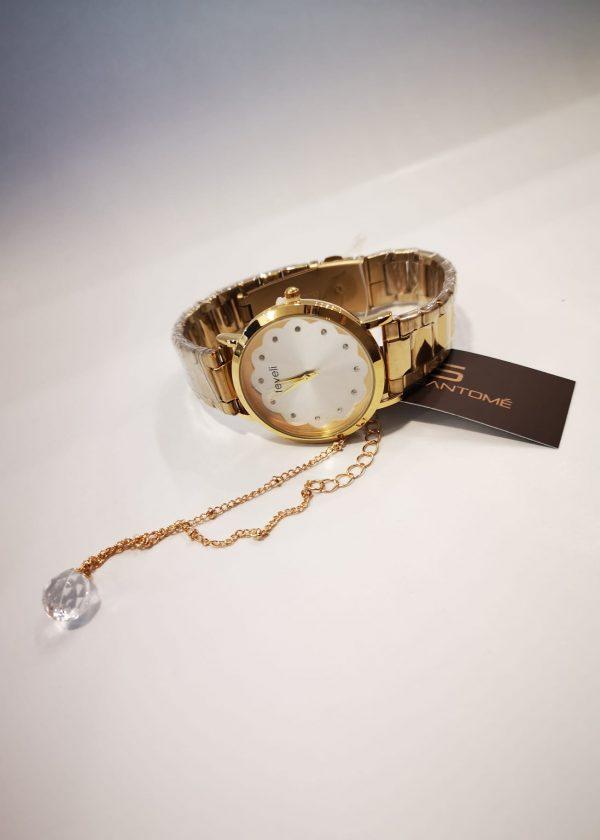 Conj. Reloj flor y Pulsera cadena