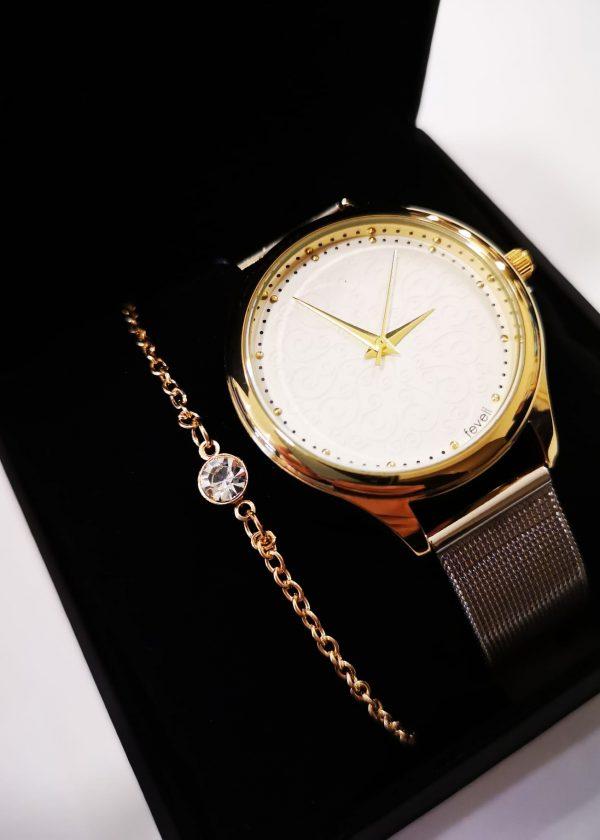 Conj. reloj/pulsera cadena