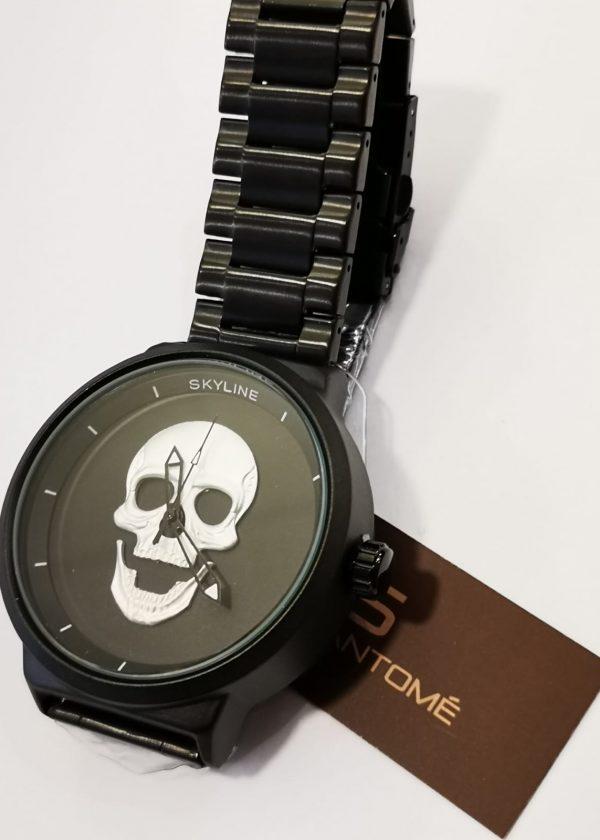 Reloj acero calavera