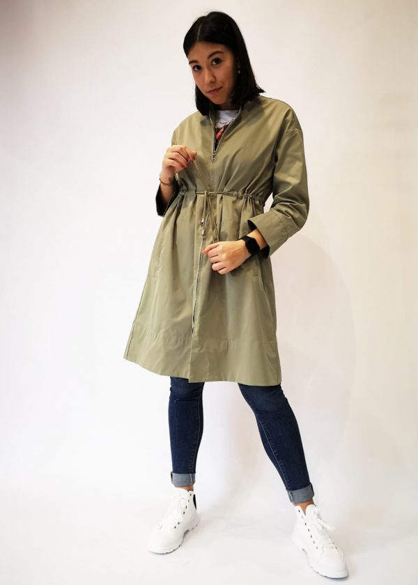Parka larga impermeable