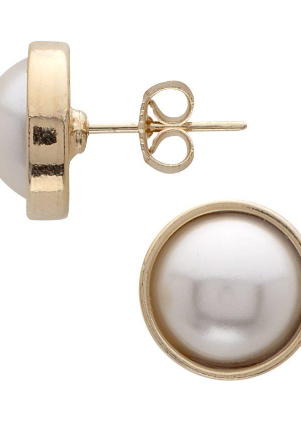 Pendientes perla crema
