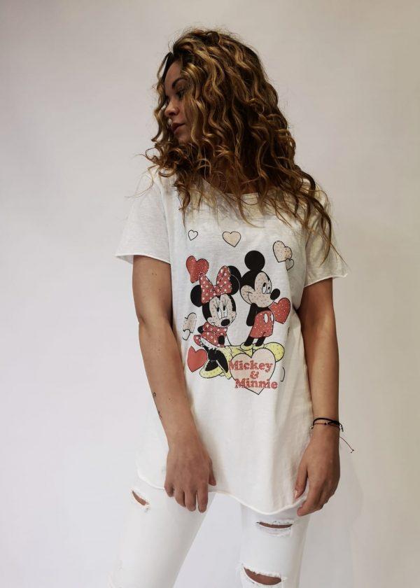 Camiseta Mickey-Minnie