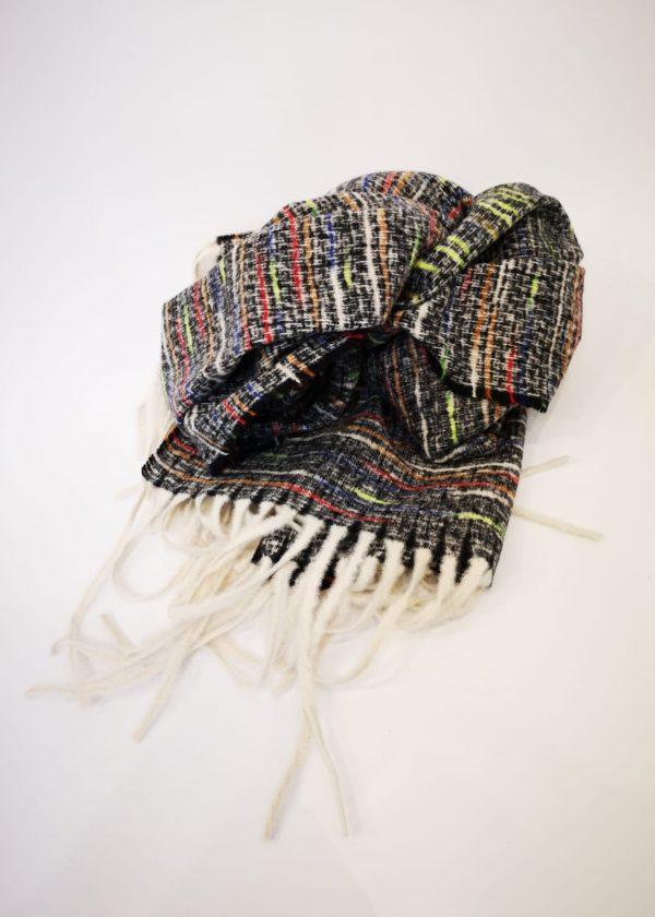Bufanda jaspeada multicolor