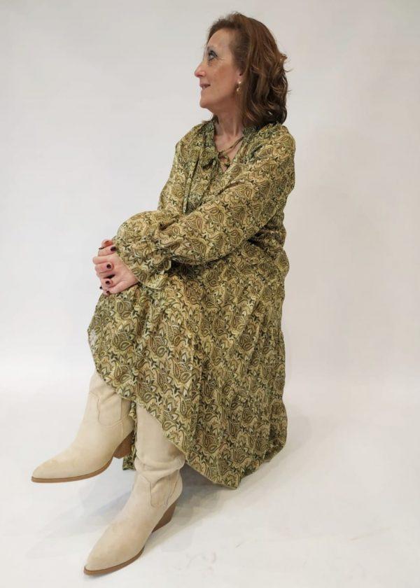 Vestido midi Paisley