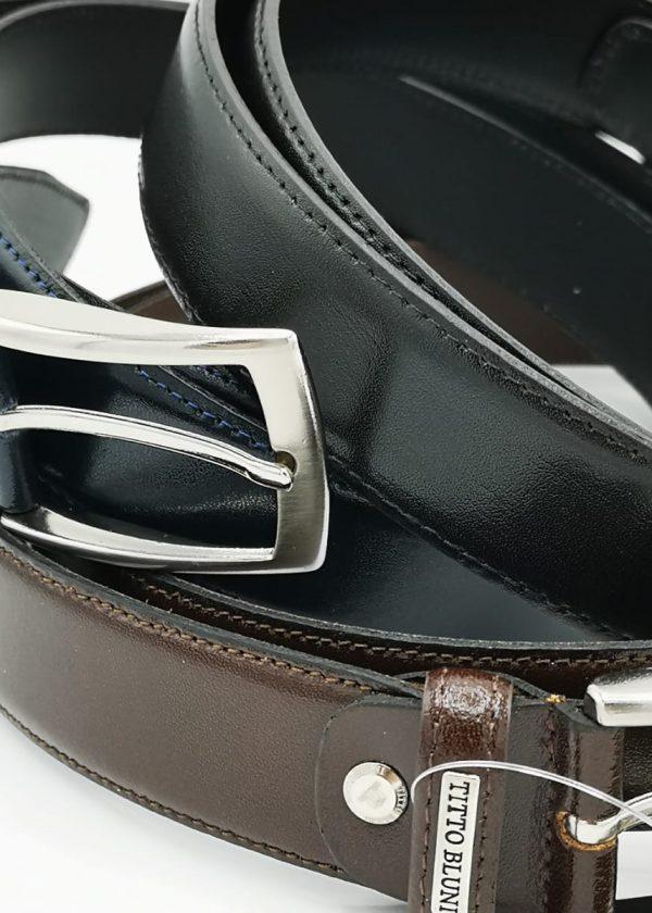 Cinturón piel Box