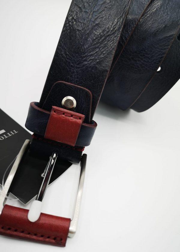 Cinturón hebilla forrada