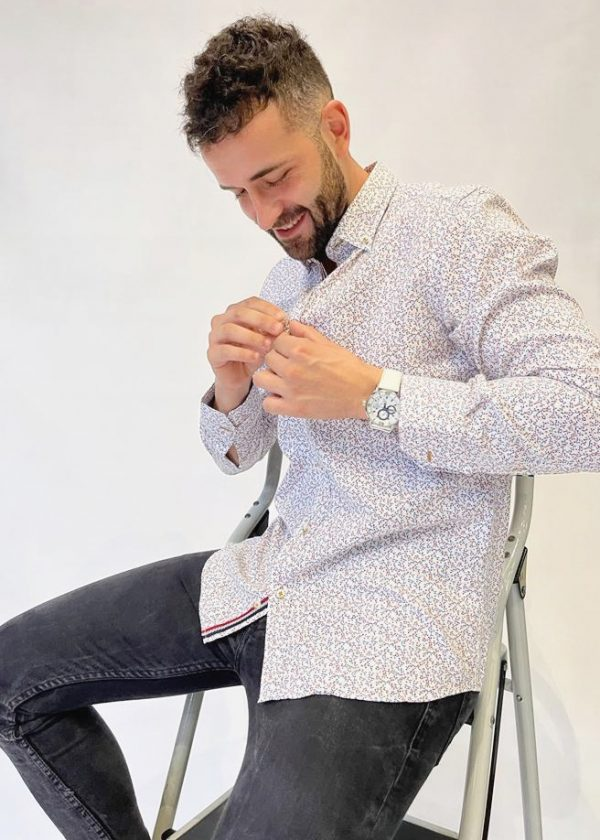 Camisa estampado ramitas